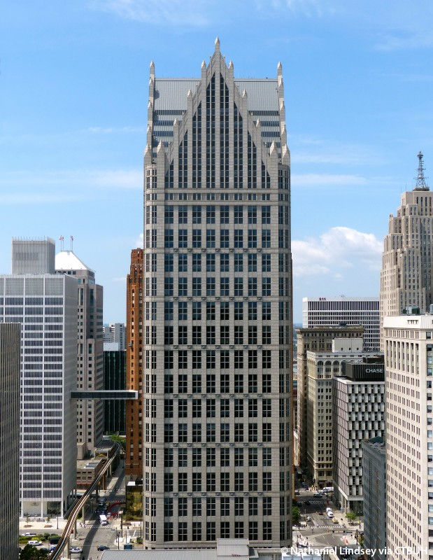 One Detroit Center,  John Burgee & Philip Johnson