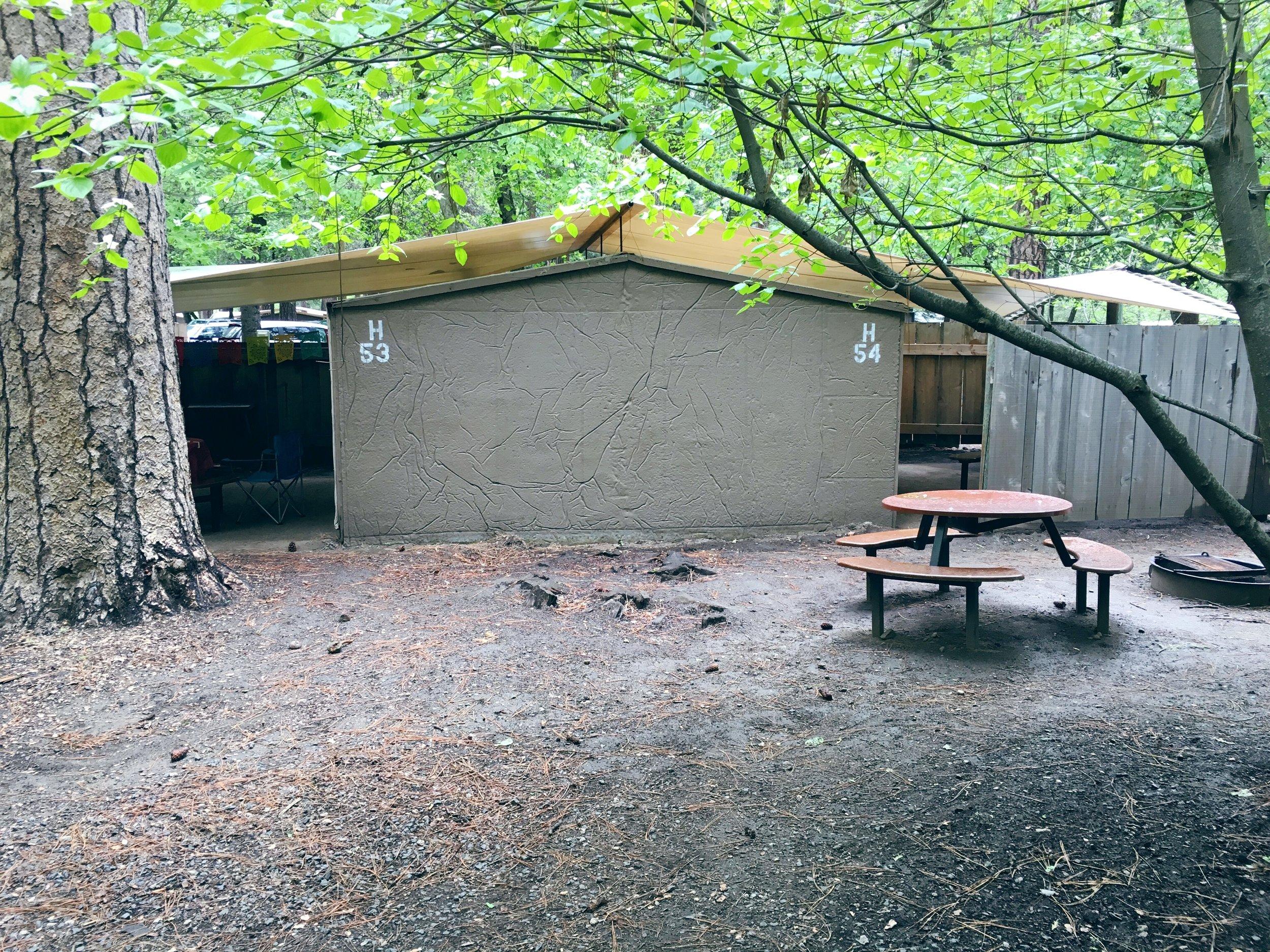 Housekeeping Camp interior unit