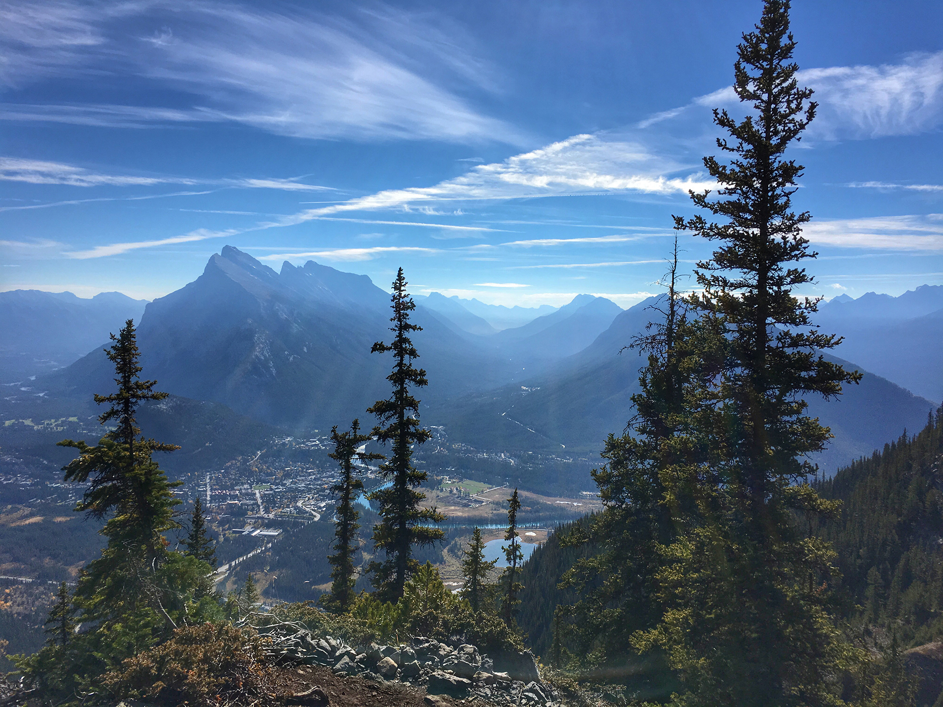 A view from the top of the ski lift at Mt. Norquay, Alberta, Canada
