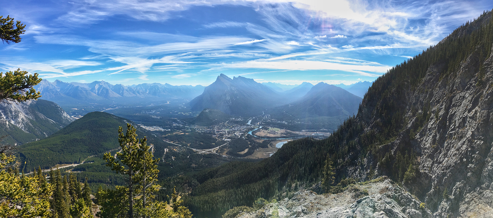 Otherworldy panoramic views in Banff National Park