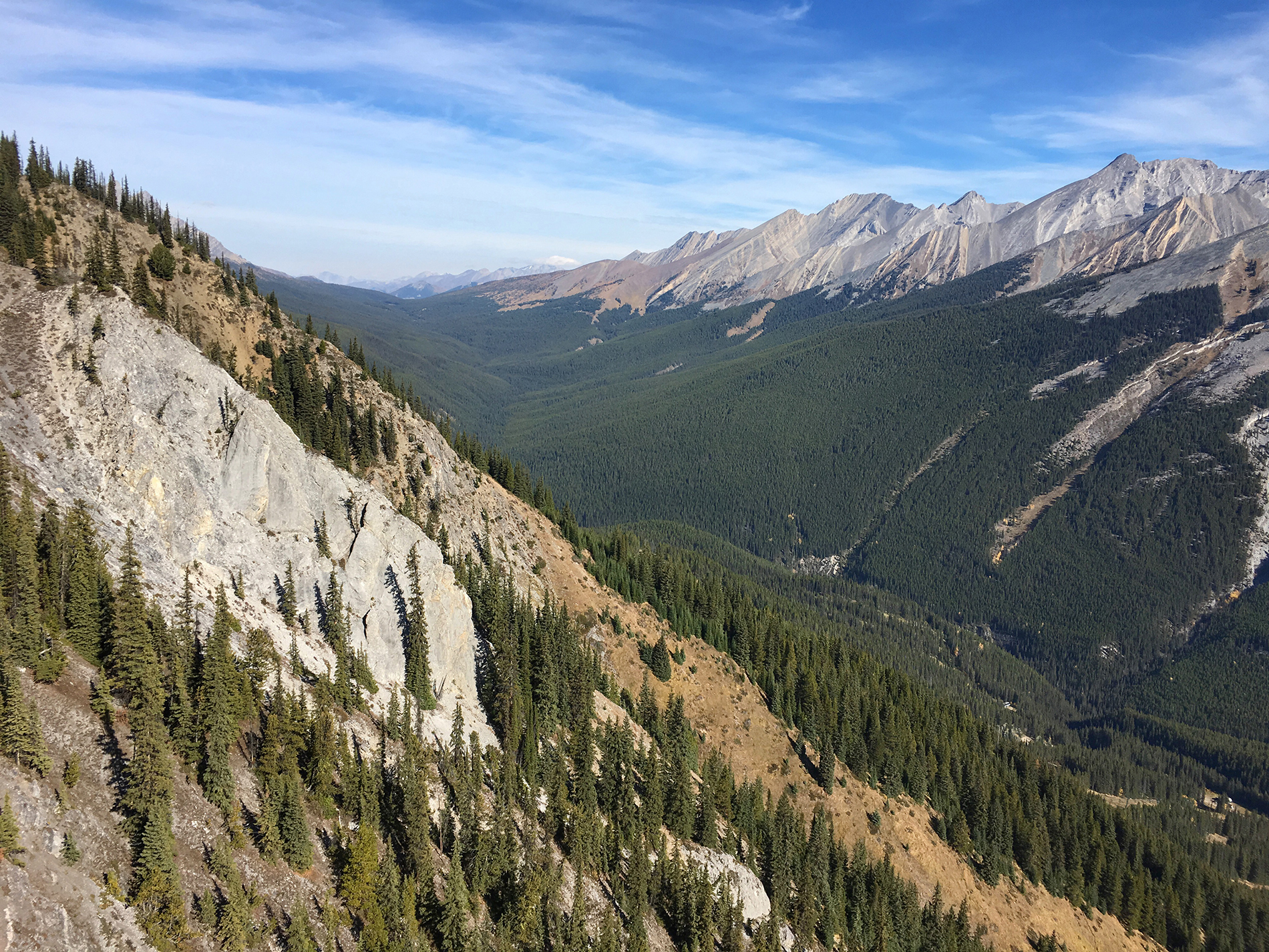 Panoramic views from the top of Mt. Norquay