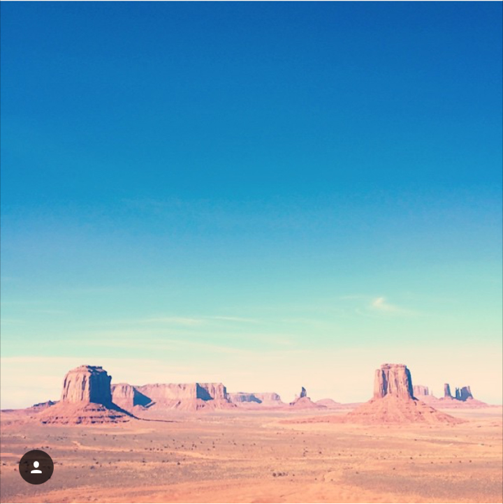 The skyline at Monument Valley, Utah
