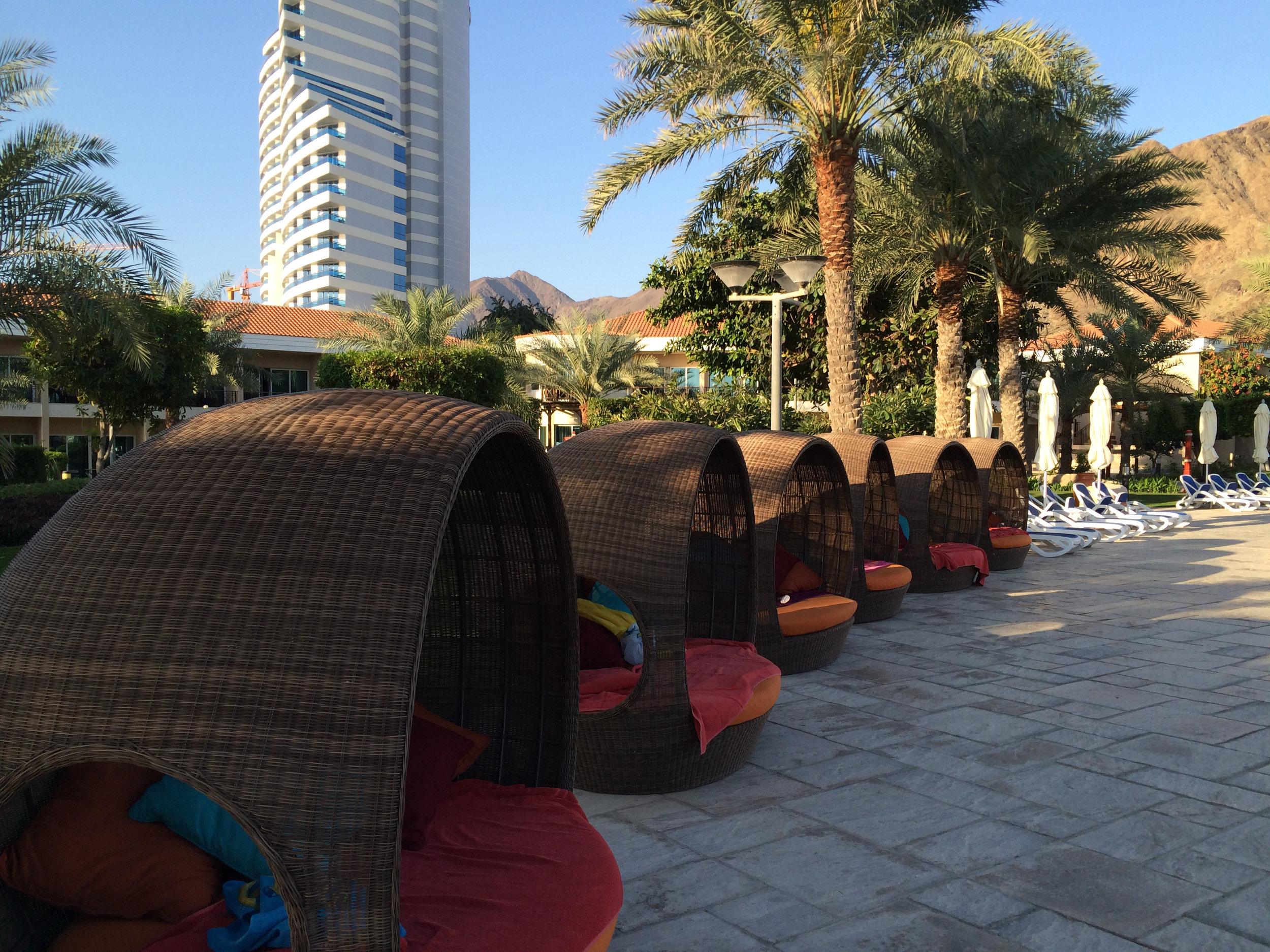 Luxurious pool at the Rotana Resort in  Fujairah, UAE