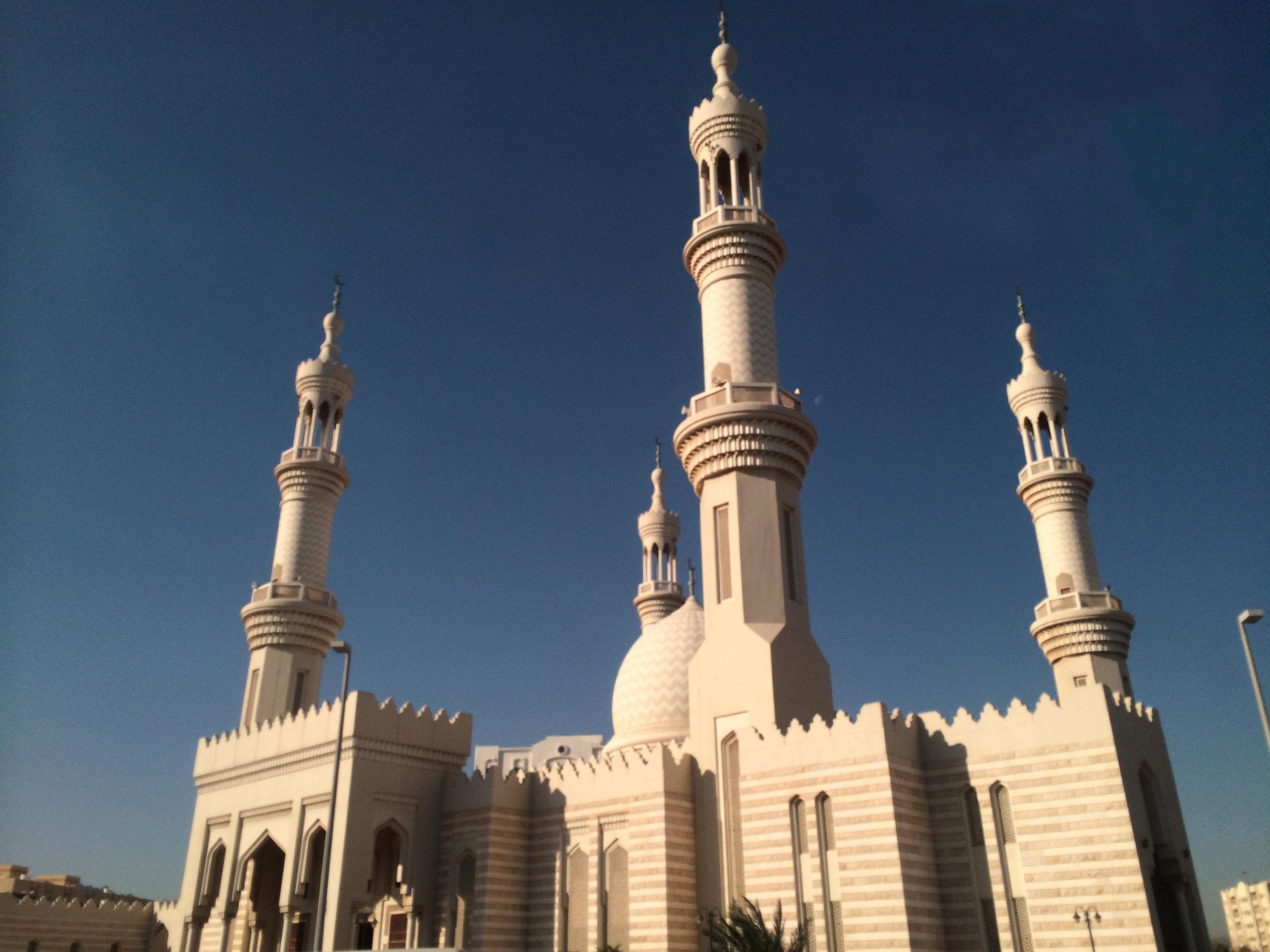 Beautiful mosque in  Fujairah, UAE