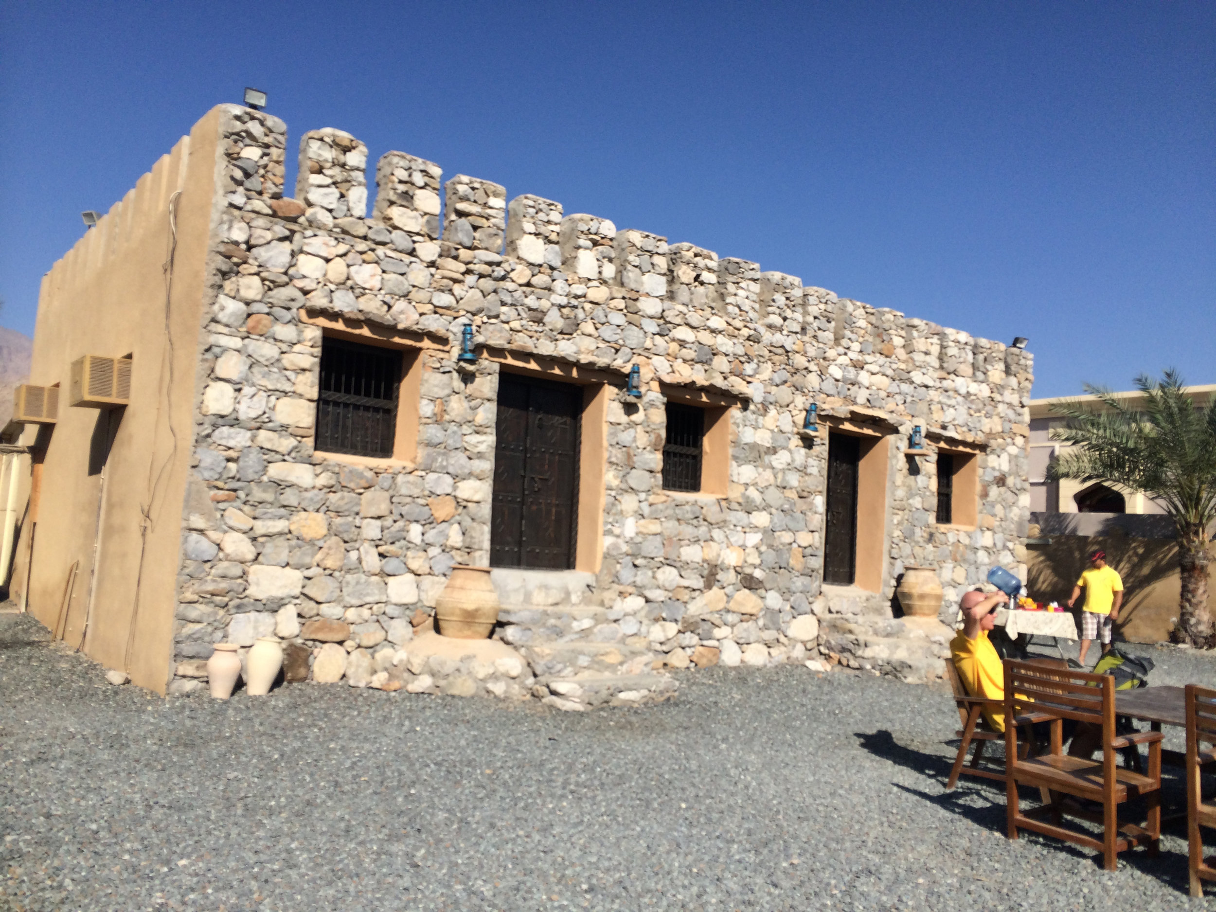Absolute Adventure's activity center in Dibba, Oman where we picked up our packs and lunches and set out on our adventure.
