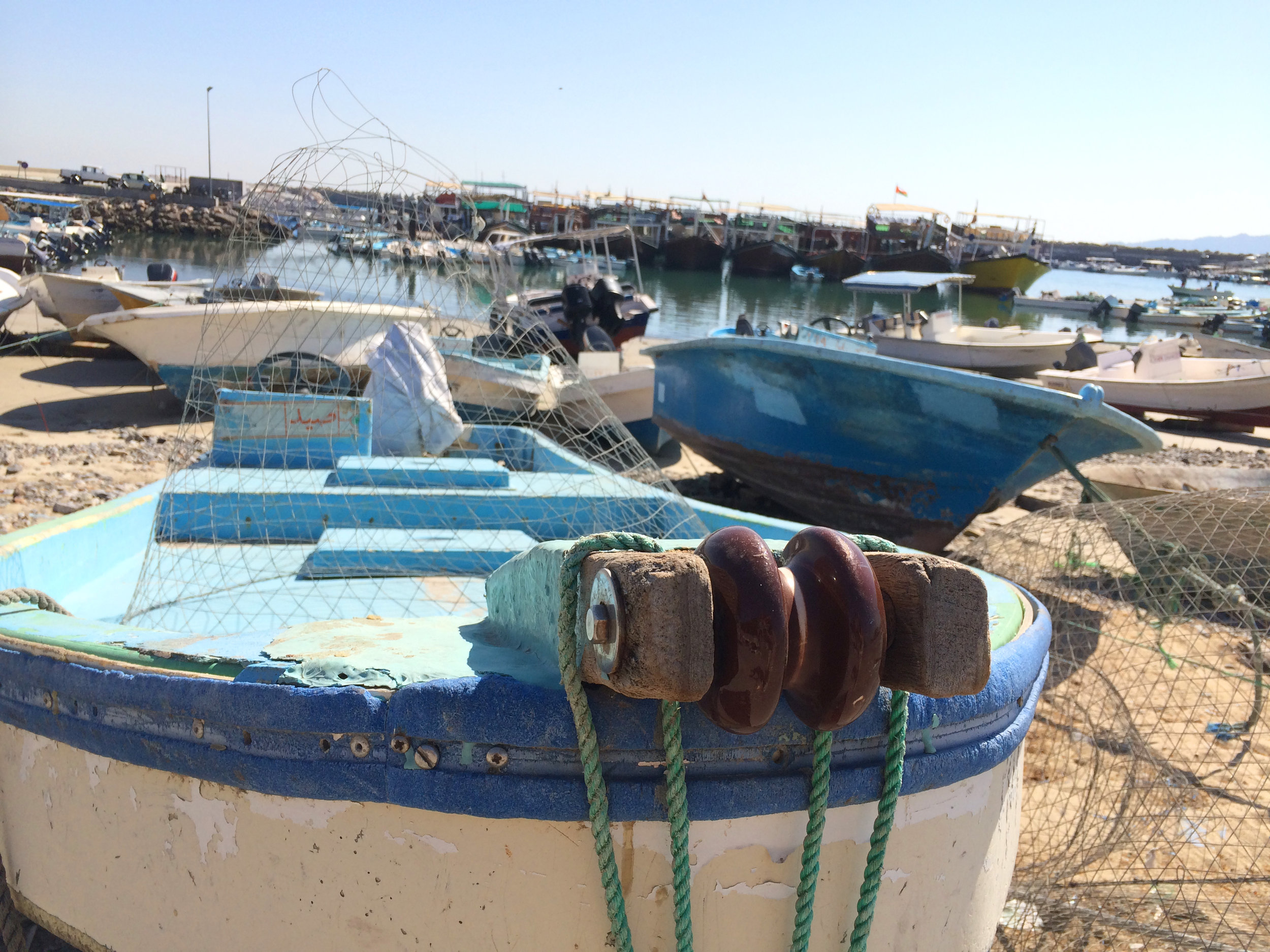 Views of the port in Dibba, Oman seems untouched by time.