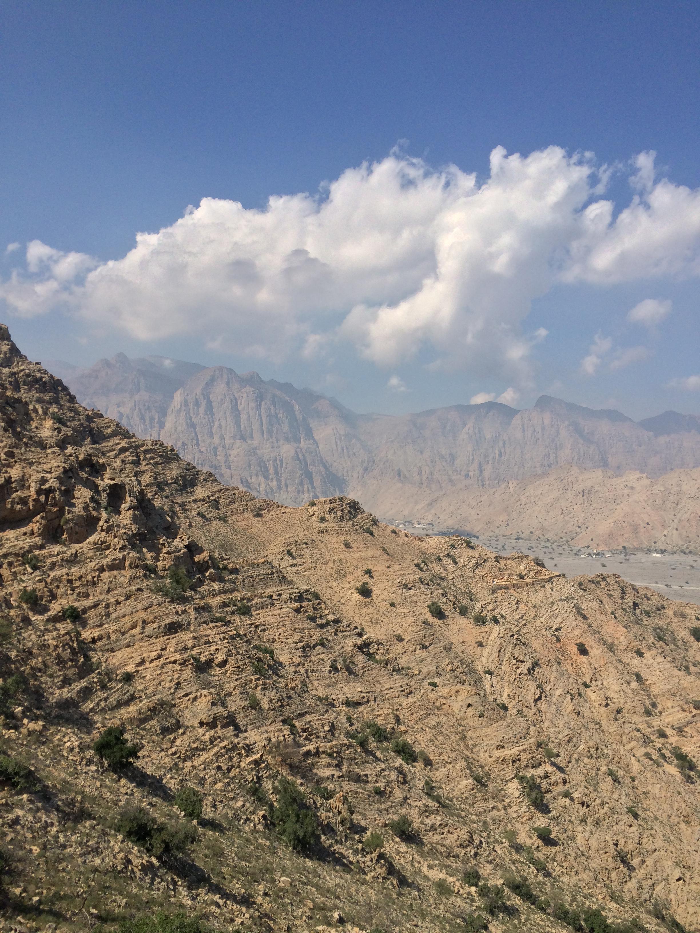 Coast of the  Musandam peninsula in Oman