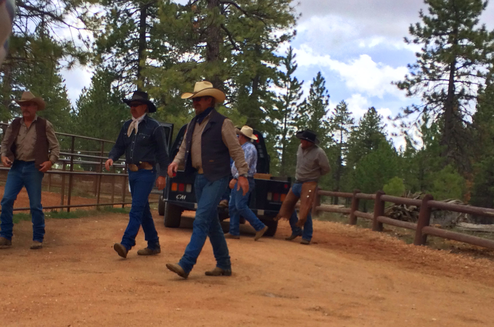 Cowboy guides from Canyon Rides in Bryce Canyon National Park in Utah