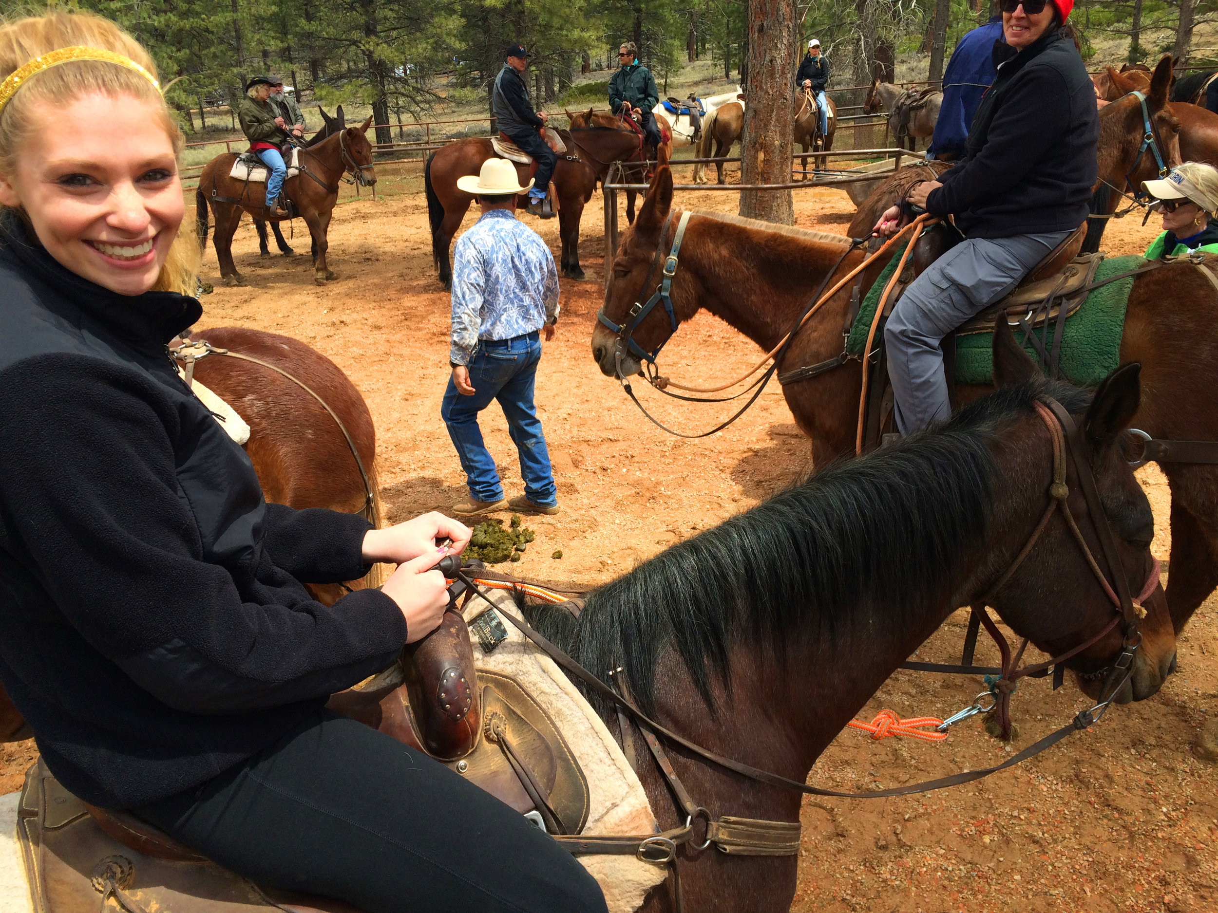 Being paired with a horse at Bryce Canyon, Canyon Rides