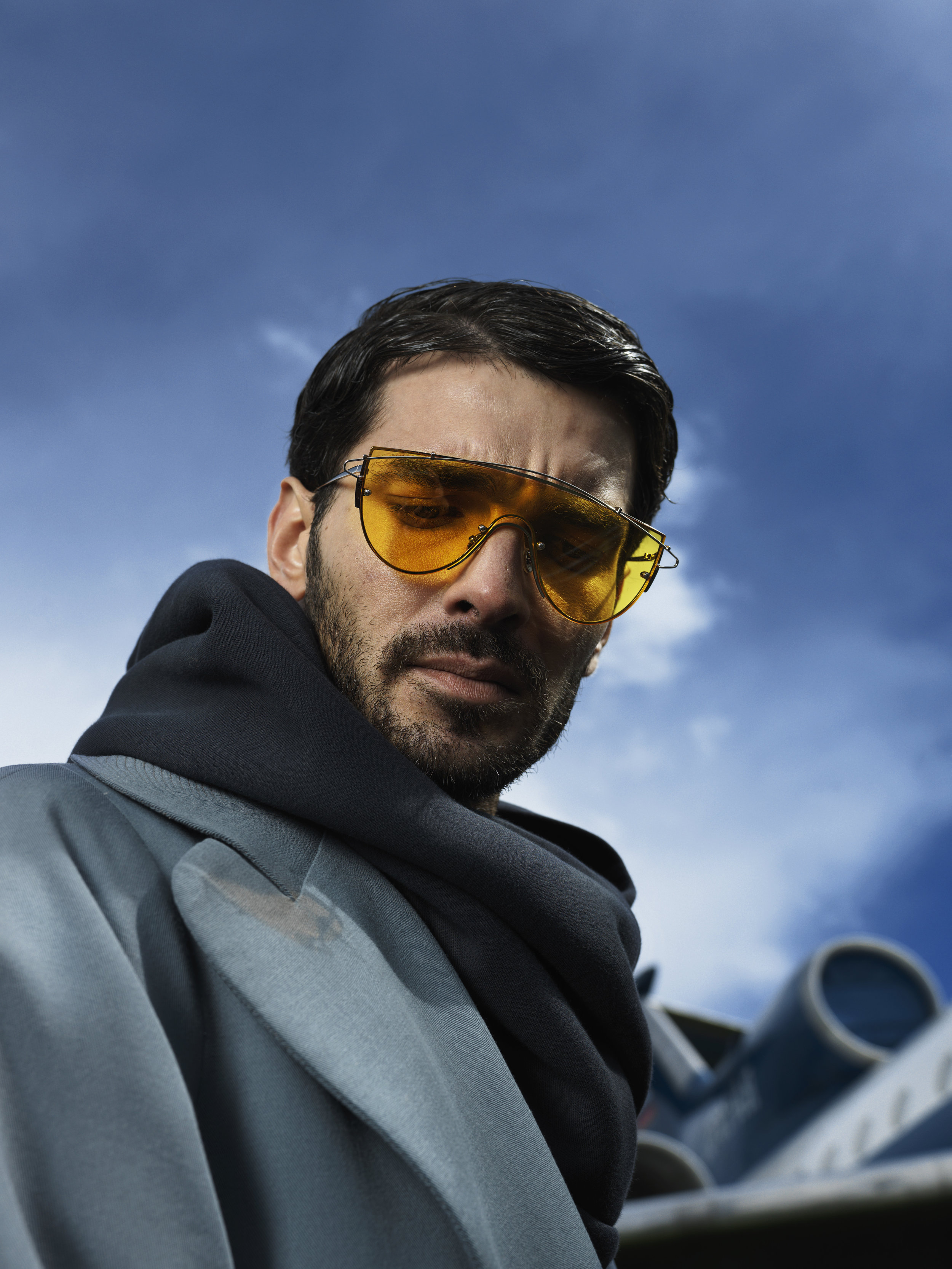 Sweatshirt Anton Lisin Coat Salema Haute Couture Glasses stylist's own