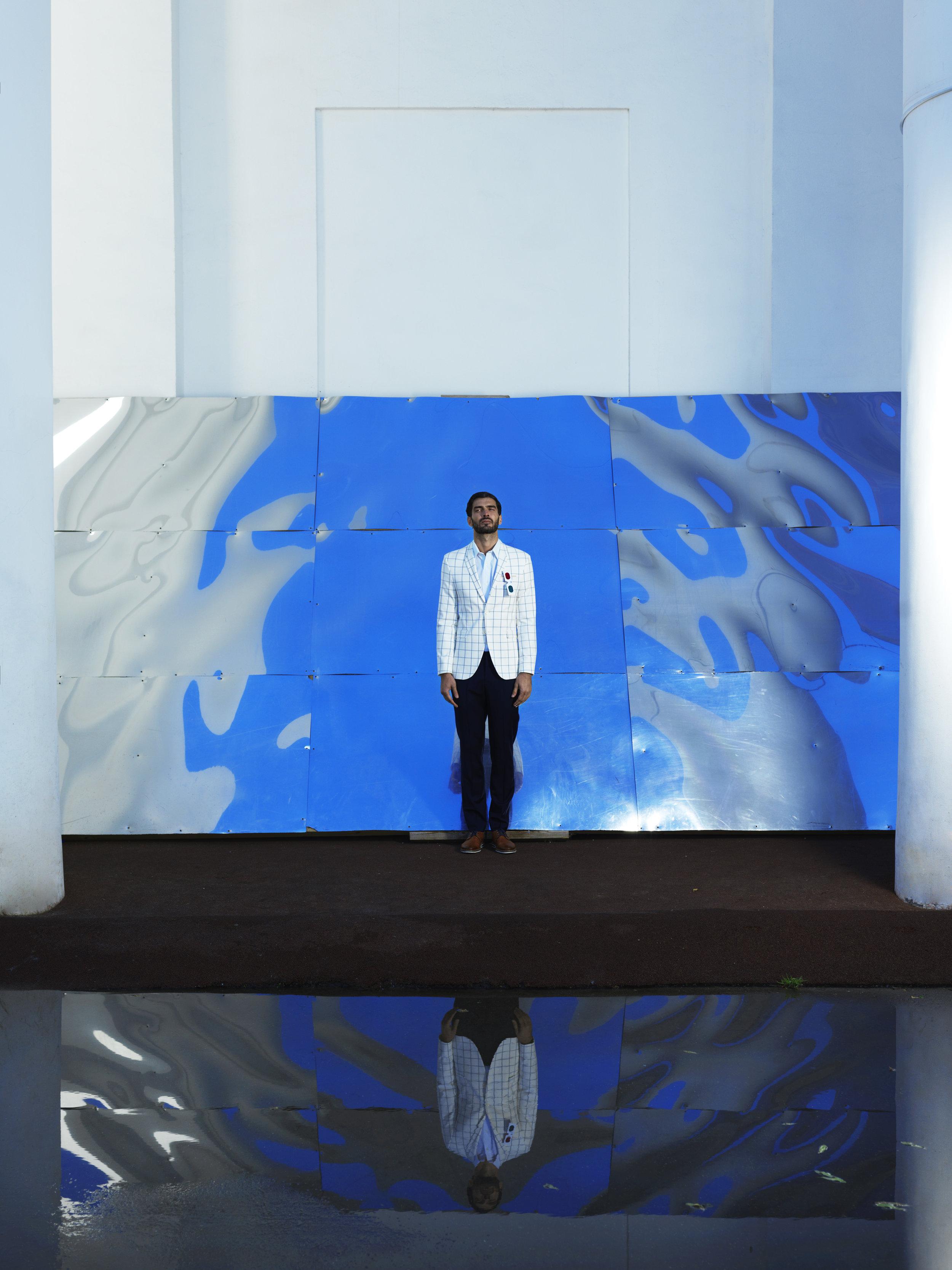 Suit jacket Zara Trousers Sanilro Pozzi Designer Mode Shirt Ralph Lauren Shoes Rieker Glasses stylist's own