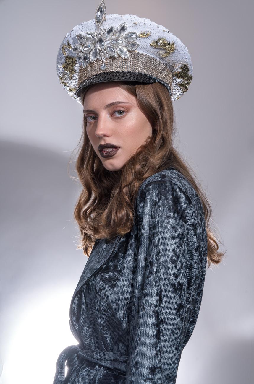 Headdress: Maryana Slavyanskaya, Suit: desali fashion, Foundation graftobian, Eyes nyx, Blush becca, Lips wycon