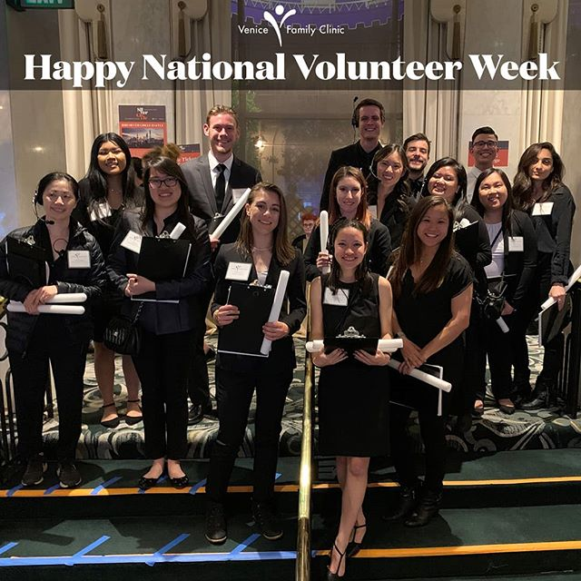 We love our #volunteers. Thank you for your time and tireless dedication to helping Venice Family Clinic deliver on its mission of providing quality primary care to people in need.  #venicefamilyclinic #venice #nationalvolunteerweek #nationalvolunteerweek2019 #nationalvolunteermonth #volunteersrock #volunteersrule #giveback #dogood #thankyou
