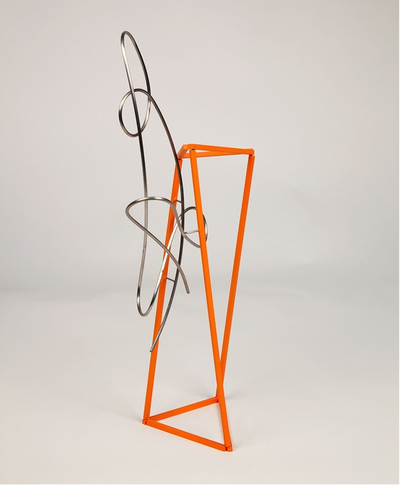 Brad Howe   Passion and Habit,  2014  Stainless steel and polyurethane  21 x 11 inches Value $3,600 - Available for $1,800
