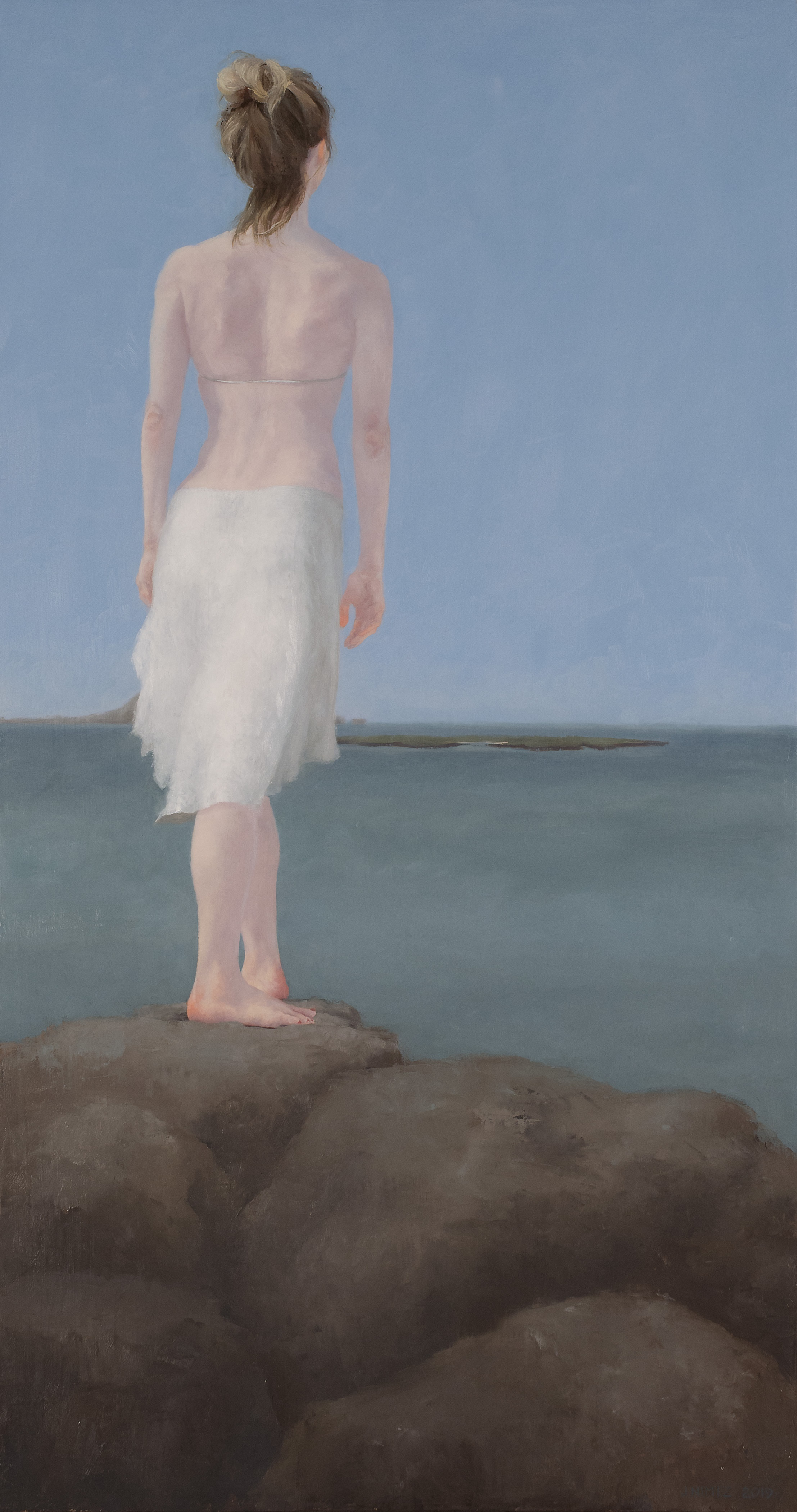 Judy Nimtz  Gazing Towards Popoi'a   Oil on panel  17 x 31 inches Value $2,800 - SOLD