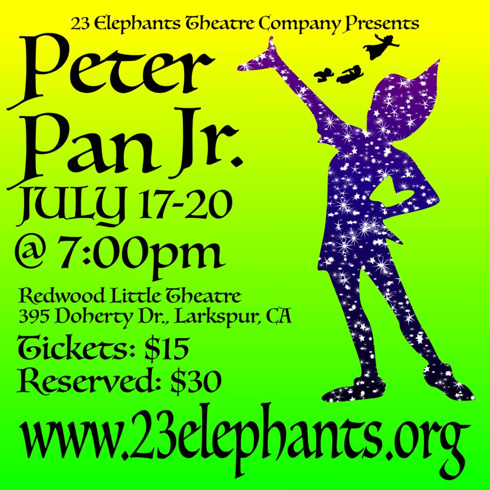 PETER PAN JR  TICKETS — 23 Elephants Theatre Company