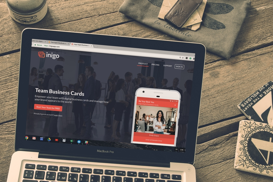 How to start your own digital business card business for Inigo App  also on  Wordpress .