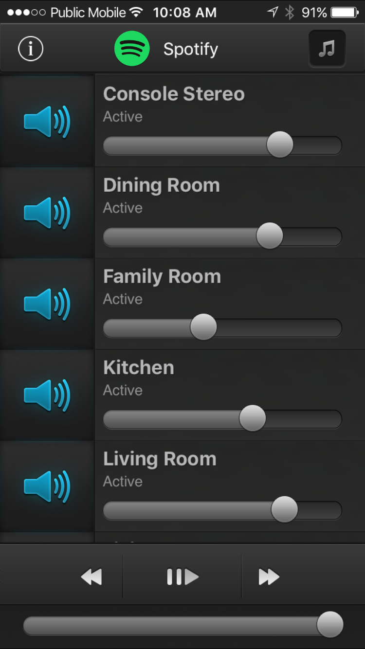 The iOS app to control your speakers