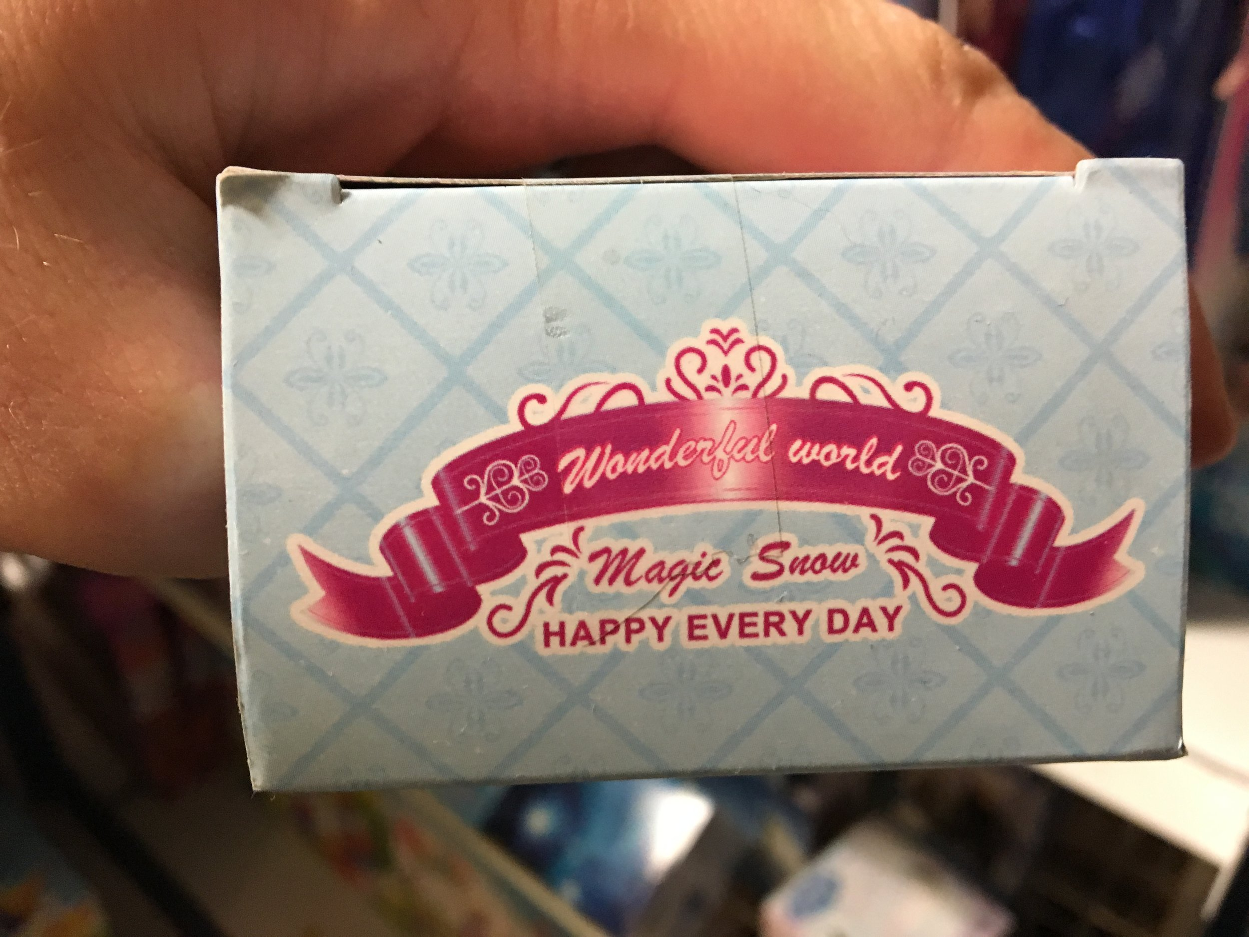 Bold claims from Wonderful World Magic Snow... HAPPY EVERY DAY!