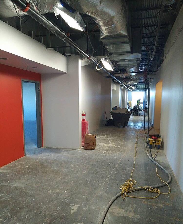 BLPA Classroom entrance with accent color paint