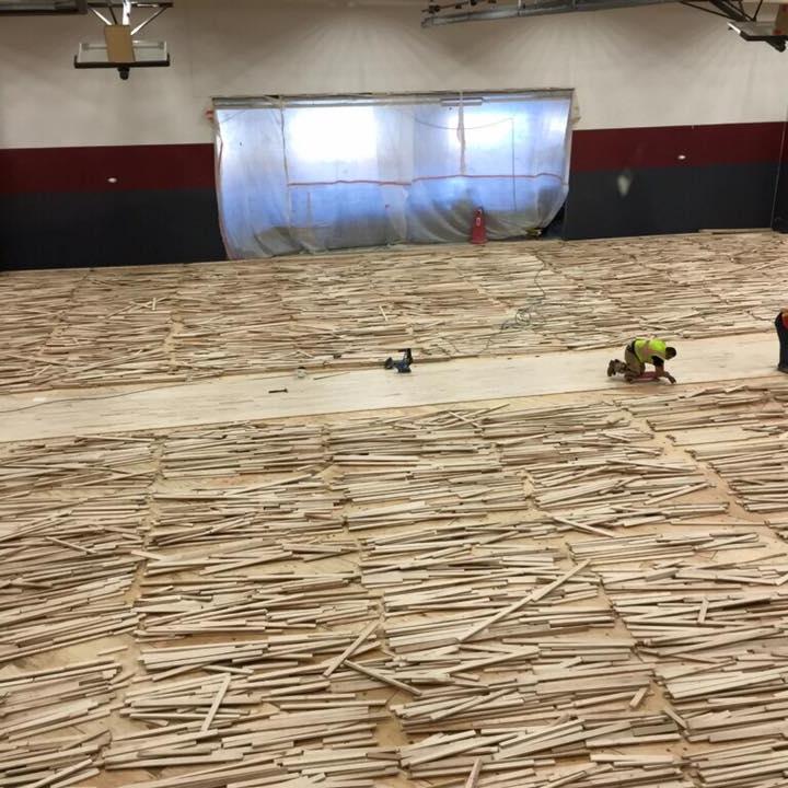 BLPA Gym Floor Assembly