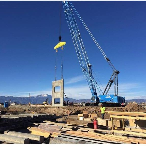 BLPA Crane Lifting Concrete Wall