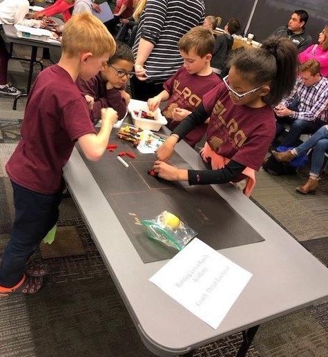 Students working on Lego Robotics