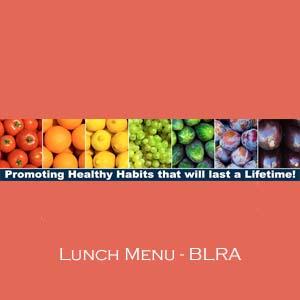 BLRA Lunch Menu