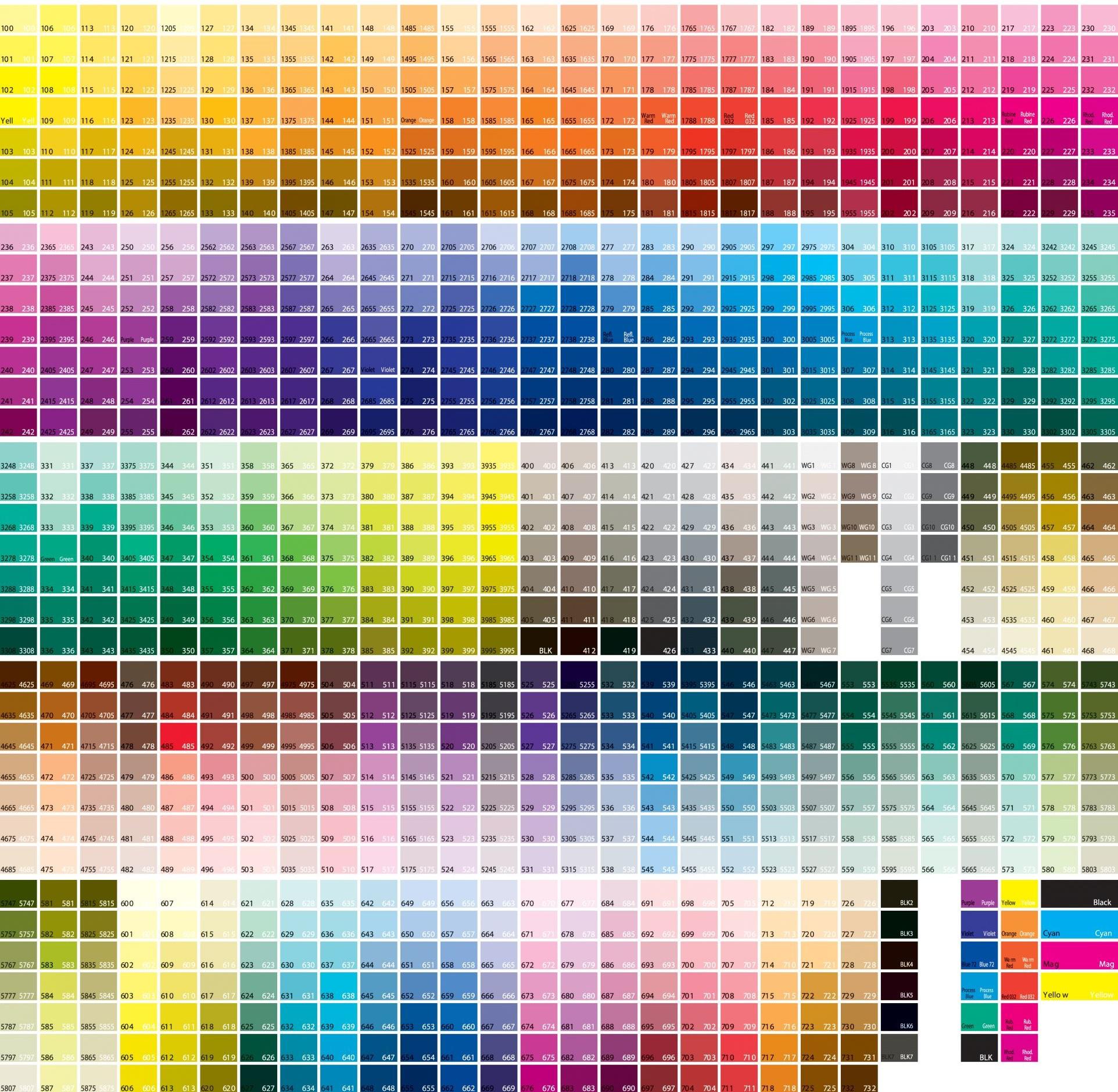 Custom Graphic Colors: Pantone