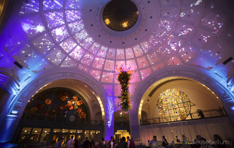Massive 360 projection mapping with Sensebellum at the Tacoma Union Station