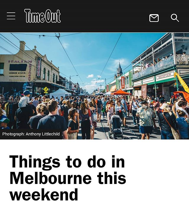 Love this shot of Sydney Road looking more like Bourbon Street. YES, Sydney Road Street Party happens this Sunday! (Thank you @timeoutmelbourne ) It's gonna be a sunny one. See you there!