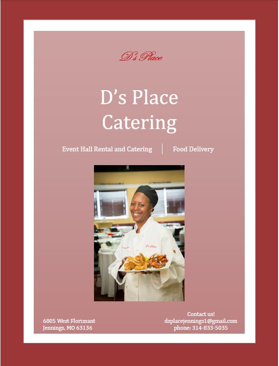 Visit Learn More below to access the informational business packet and gain comprehensive knowledge about D's Place's offerings.