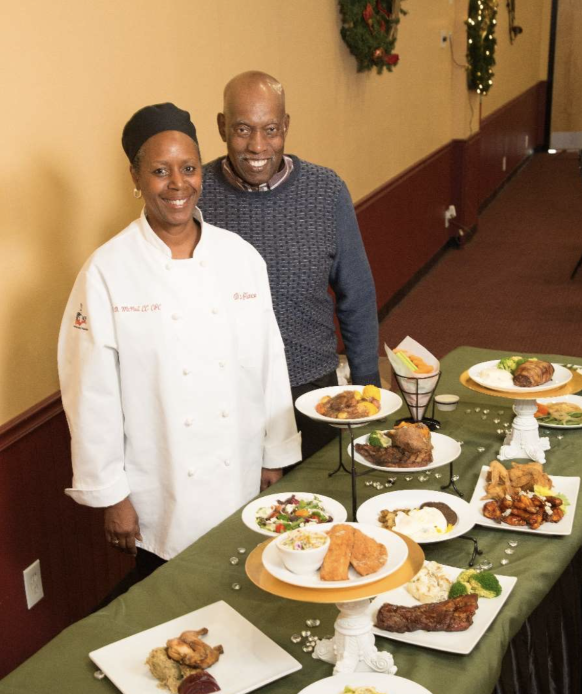 D's mission is to serve our customers and community and be a stable force in the area.  We hope to bring people together to celebrate all occasions. - D's Place Banquet, Catering and Hall Rental is located in the business district of Jennings, Missouri. Our doors opened in March 2016 for business. We are an all occasion banquet facility, featuring the abilities to host meetings, weddings, parties and repasts. For catering, we have a commercial kitchen with a full time chef. D's Place can do both onsite and offsite catering for your function. We can easily seat 102 people in our building.
