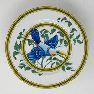Set of 8 Hermes Toucans Birds Dessert Plates — Dulce