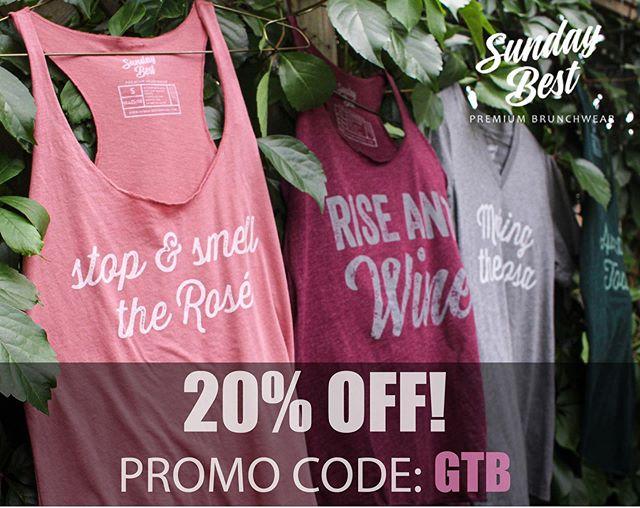 Last call!  Save 20% with code GTB!  Sale ends tonight! #galsthatbrunch #premiumbrunchwear #savenow #discounts #brunchoutfit #brunching #brunchinghard #buymebrunch #stopandsmelltherose #riseandwine