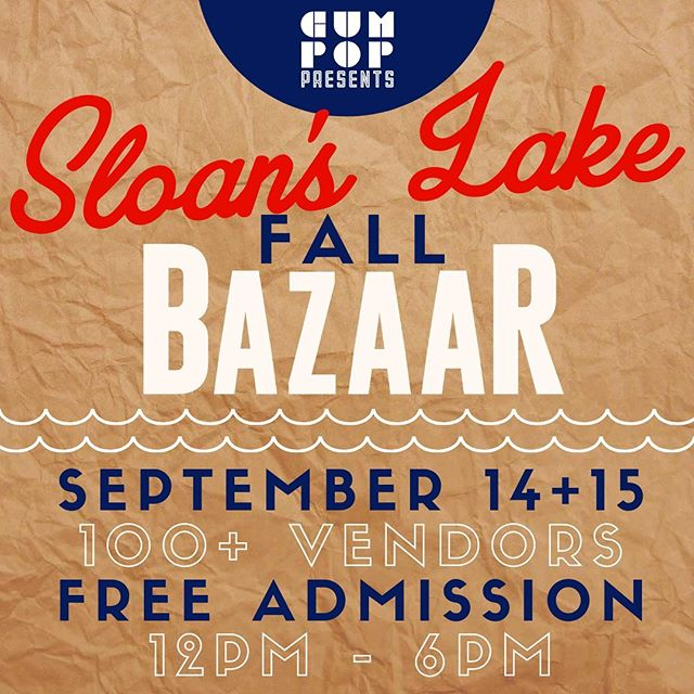 We're happy to announce our participation in the #sloanslakebazaar!  Come enjoy some fall shopping and grab some #premiumbrunchwear! #festivalseason #sloanslake #denverevents #shopsmall #supportlocal #denverbazaar #popupshop