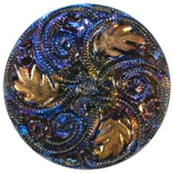 CB-020 PURPLE-BLUE GLASS WITH GOLD LEAVES.jpg