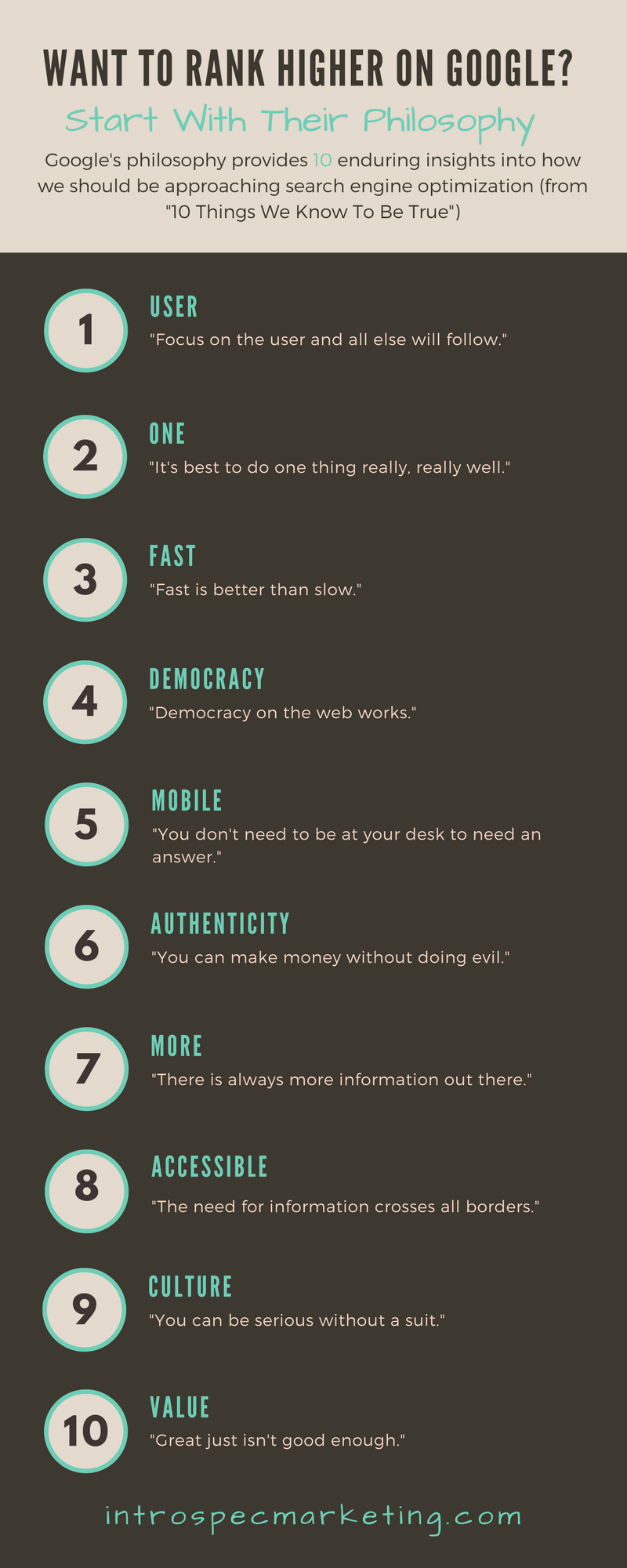 Want to Rank Higher on Google? infographic