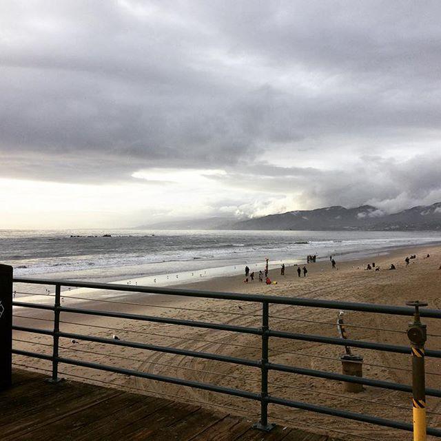 Santa Monica Beach from the Pier.