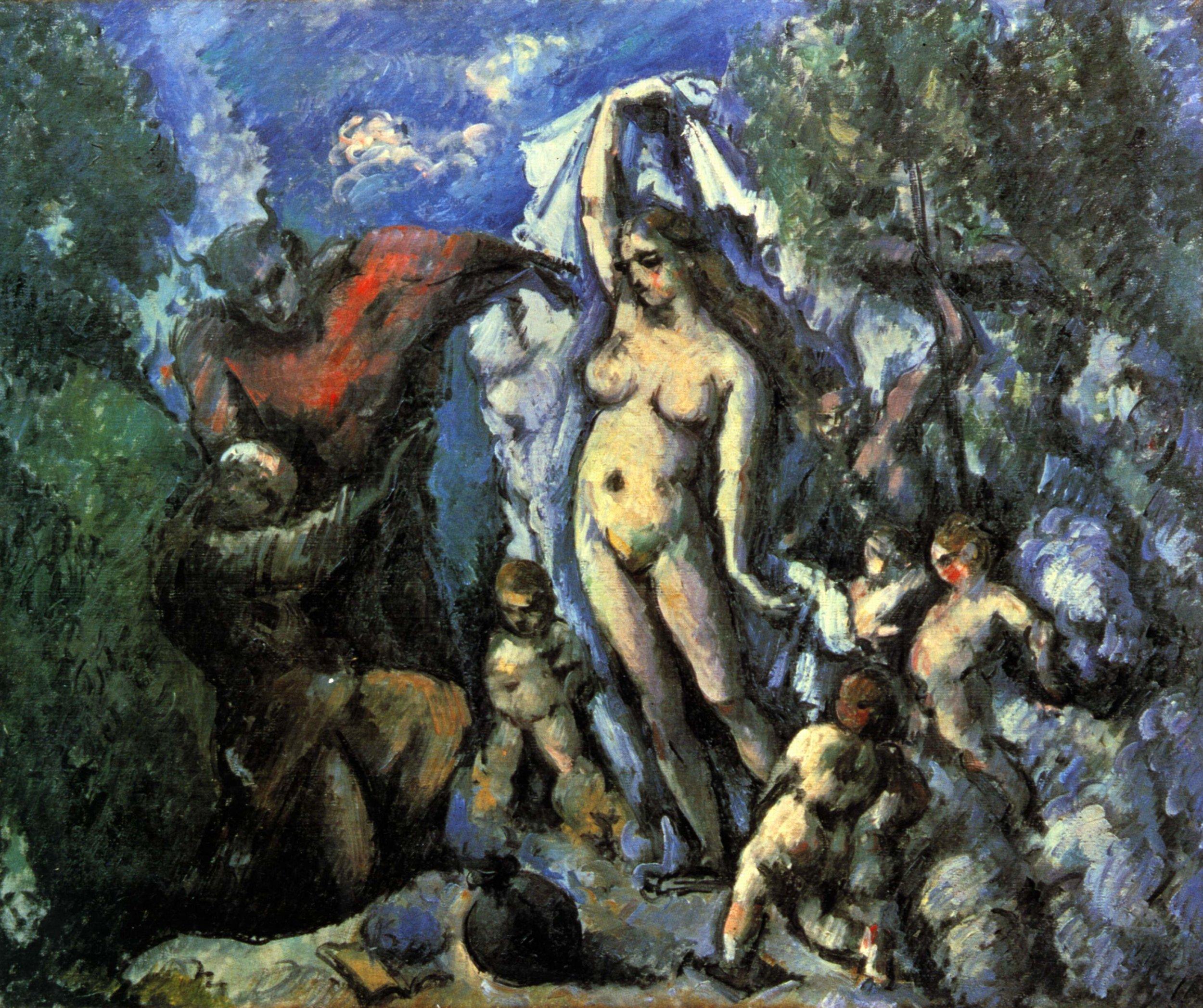 Paul Cézanne (1839-1906),  The Temptation of St. Anthony  (1877), oil on canvas, 47 x 56 cm.Musée d'Orsay, Paris. Wikimedia Commons.