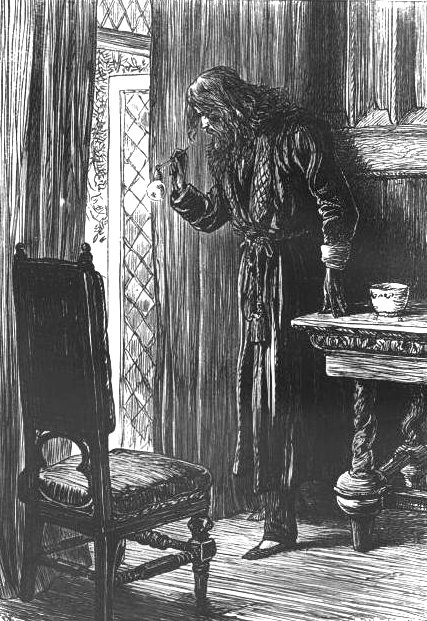 Illustration of Clifford Pyncheon from The House of Seven Gables. By John Dalziel, 1875.