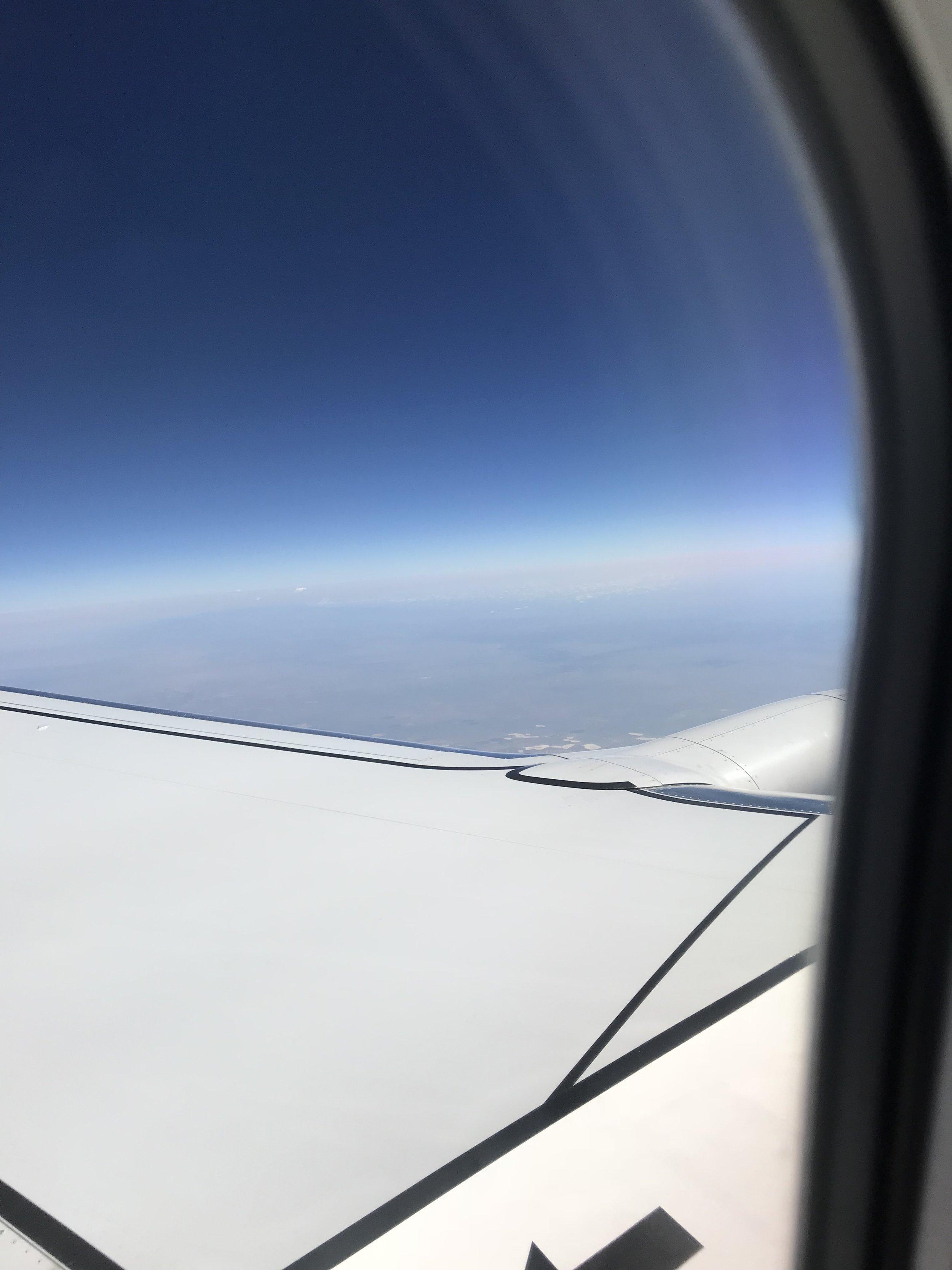 Cruising altitude.