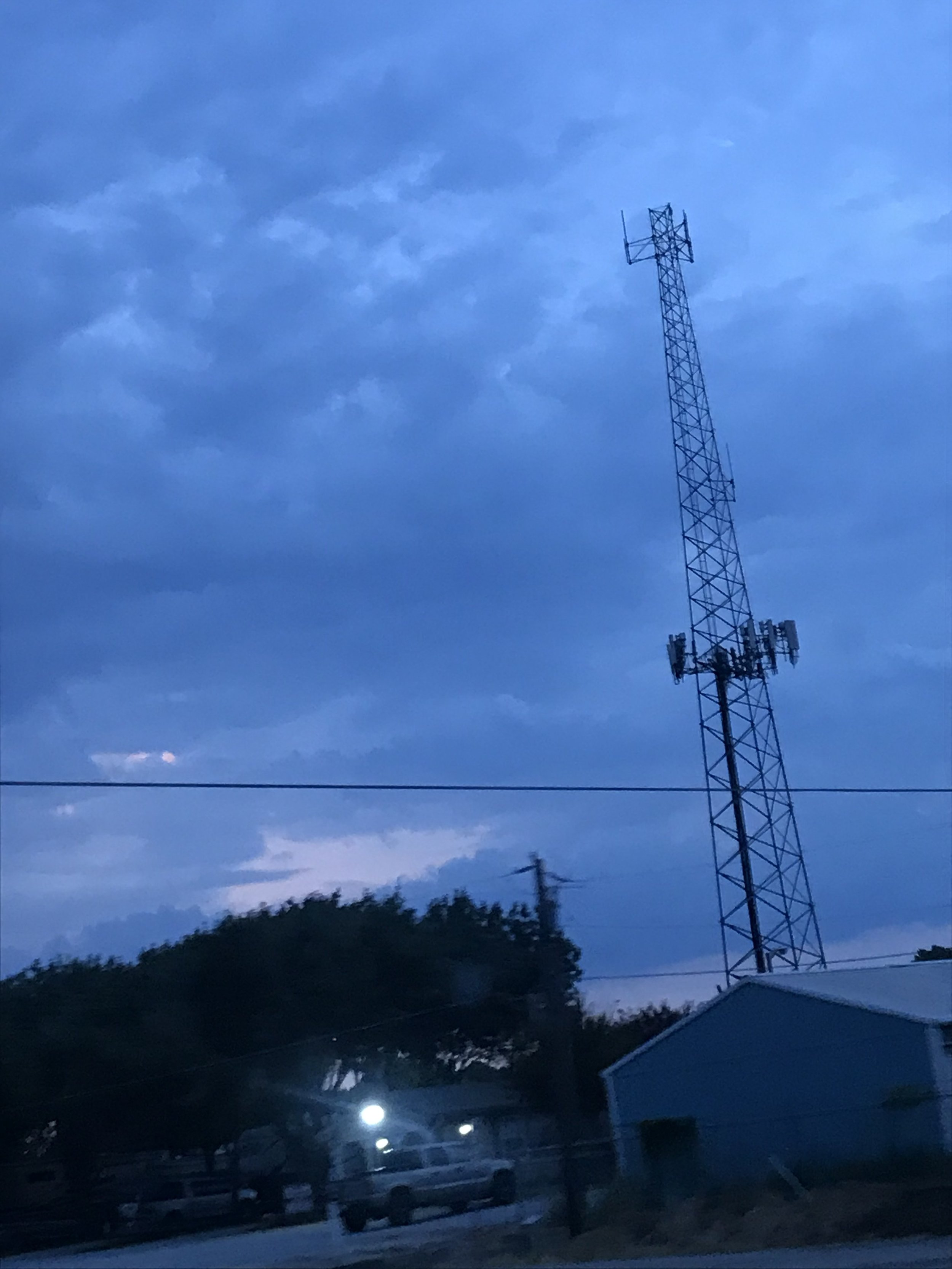 A cell-tower near where my parents live in Texas.