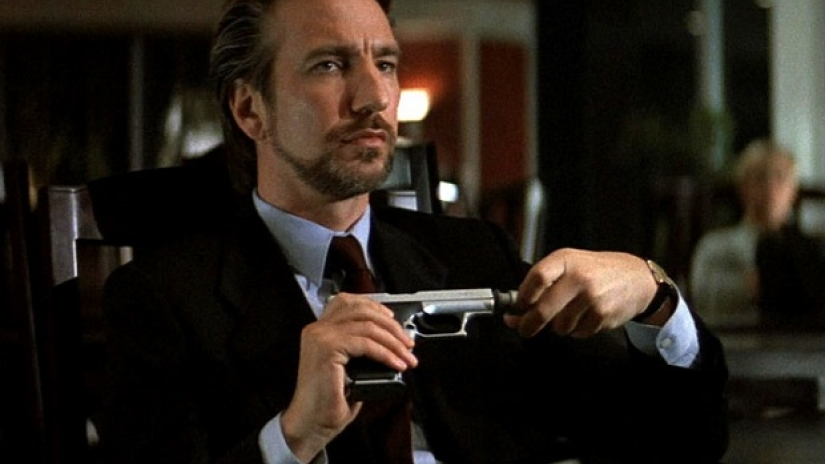 Alan Rickman as Hans Gruber.