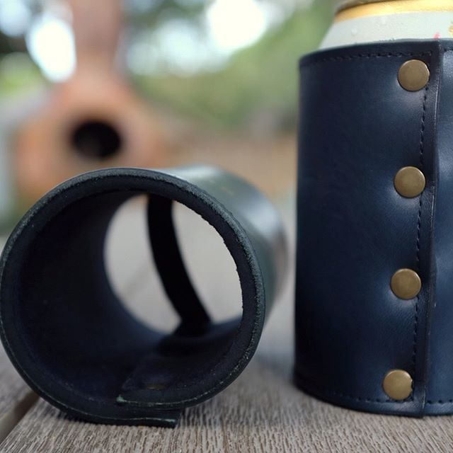 We use heavy duty neoprene in our koozies to make sure your drink stays cold this summer. That is unless you like hot beer...then this one is definitely not for you. • • • #coldbeer #madeintexas #leathergoods #blvdeast #boulevardeast
