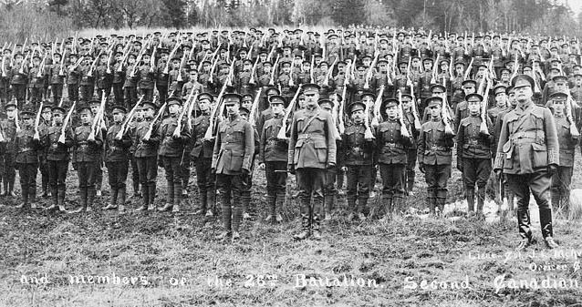 Some CEF Canadian recruits, who were sent to Europe, fought among a collective of soldiers known as the Canadian Corps. The Canadian Corps was the force that captured Vimy Ridge in 1917. Photo credit:  canadiansoliders.com