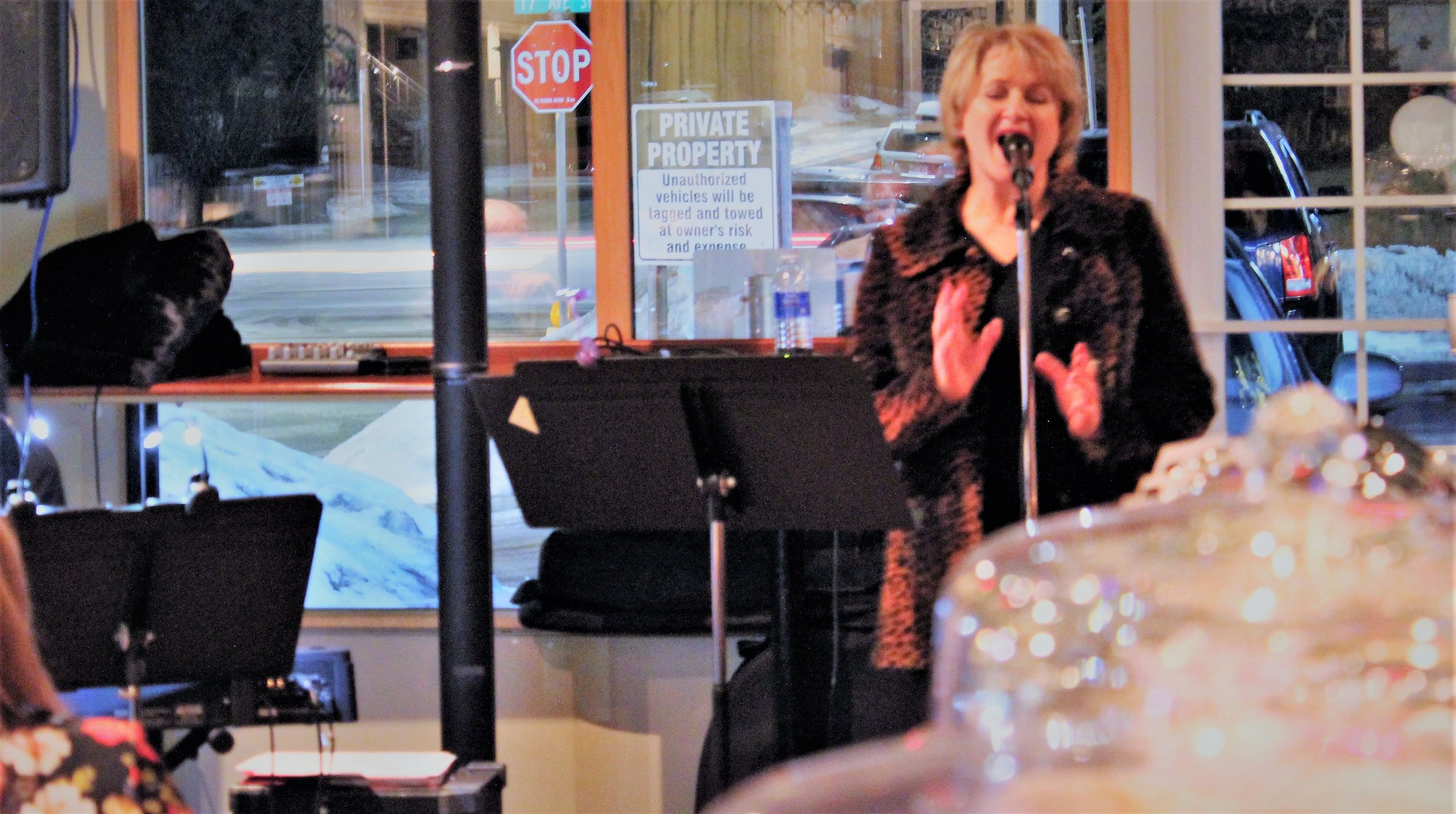 Mary Boyes performs on opening night of the six week Diva/Divo local jazz series.