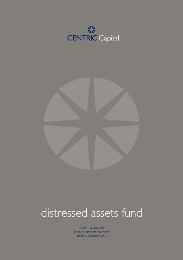 Distressed Assets Fund Product Disclosure Statement