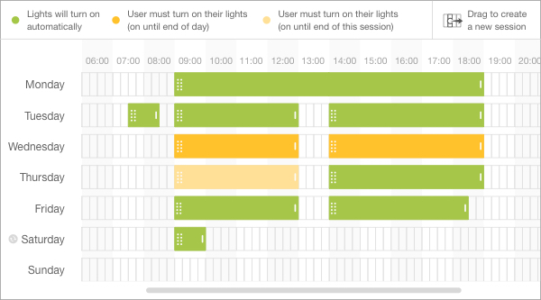 En-trak Smart Lighting Schedule Feature