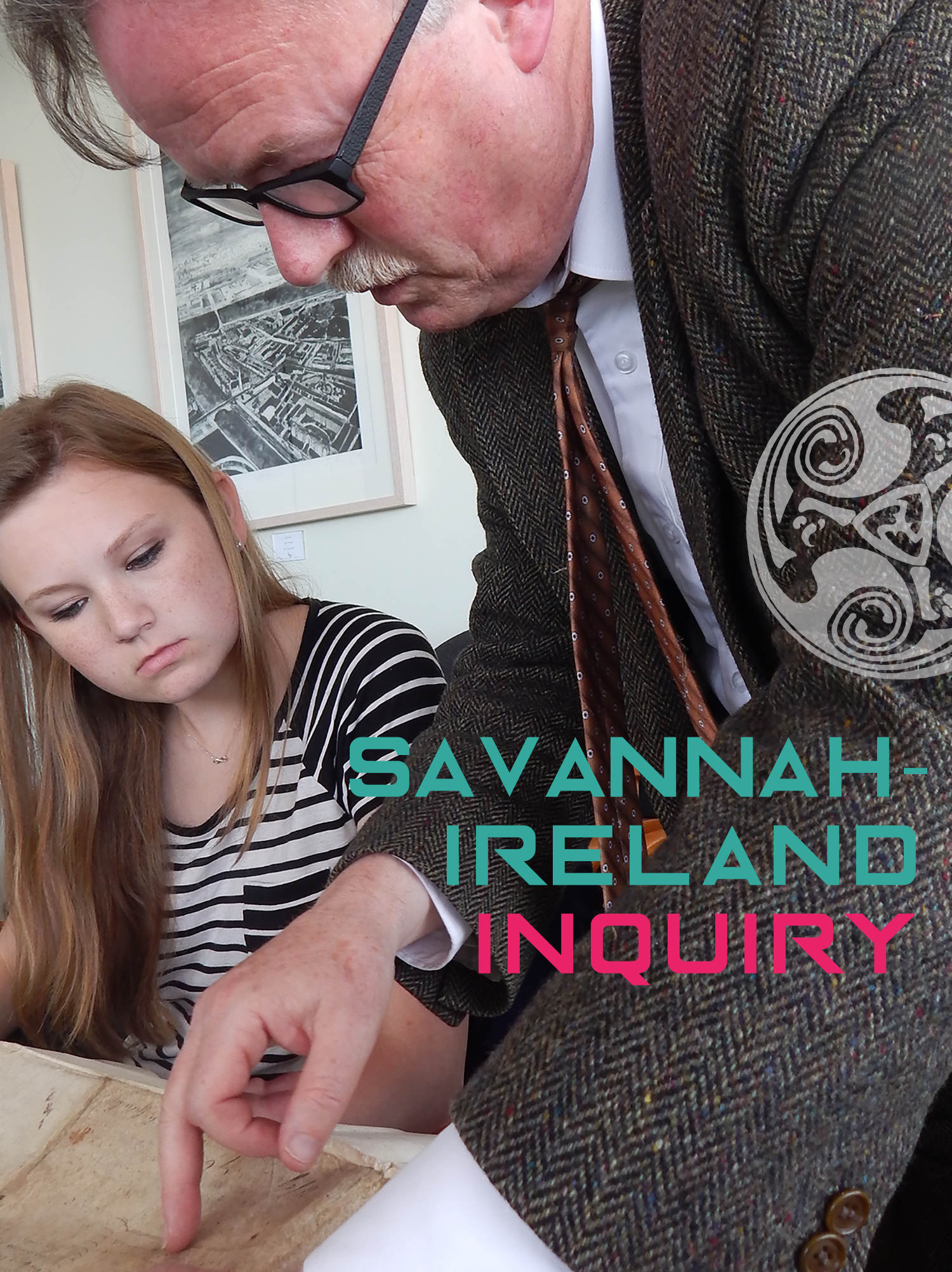 EXAMINING A SAVANNAH-RELATED DOCUMENT FROM 1846, GEORGIA SOUTHERN UNDERGRADUATE KAYLA ALLEN CONSULTS WITH DR. BRIAN DONNELLY, SENIOR ARCHIVIST AT THE NATIONAL ARCHIVES OF IRELAND, DUBLIN
